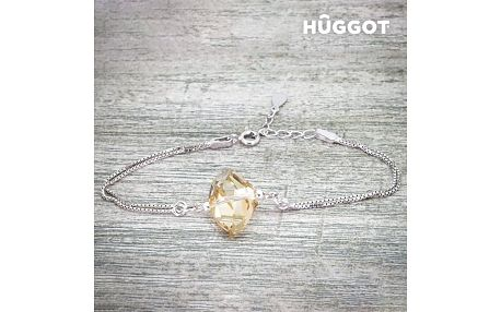 Náramek ze sterlingového stříbra 925 Stone Hûggot vyrobený s křišťály Swarovski® 18 cm