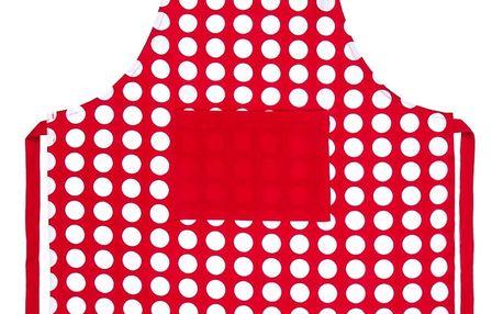 4Home Zástěra Červený puntík, 70 x 90 cm