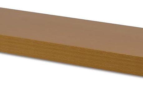 AUTRONIC Nástěnná polička 60 cm, barva buk P-001 BUK