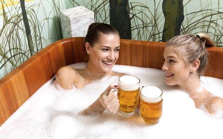 2 hodiny pivních lázní: koupel, sauna i pivo