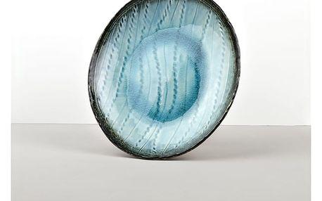 MIJ Oválný talíř Sky Blue 24 x 20 cm