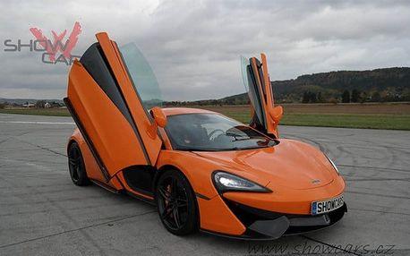 20minutová jízda v 1 ze 7 rychlých supersportů od Showcars u Mnichova Hradiště
