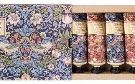 MORRIS & Co. Dárková kolekce mini kosmetiky Strawberry Thief, modrá barva, plast, papír