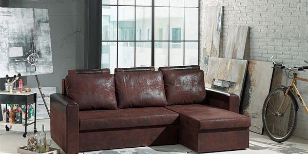 Rohová sedačka Dimi univerzální (gobi 04/bycast, hnědá)