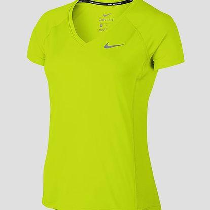 Tričko Nike W NK DRY MILER TOP V-NECK Barevná
