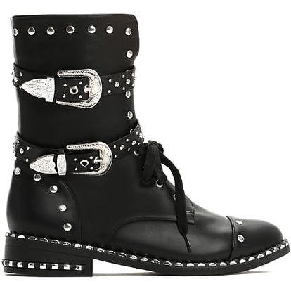 Dámské černé kotníkové boty Mason 9110