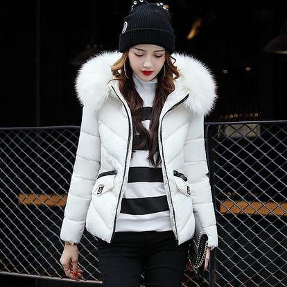 Elegantní bunda s huňatým kožíškem