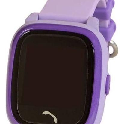 Chytré hodinky Helmer LK 704 dětské s GPS lokátorem (Helmer LK 704 V) fialový