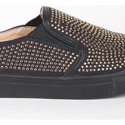 Boty Primadonna Calzatura Sneakers Microfibra Nero Hnědá