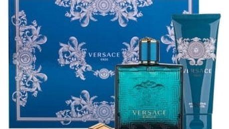 Versace Eros dárková kazeta pro muže toaletní voda 100ml + sprchový gel 100 ml + spona na bankovky