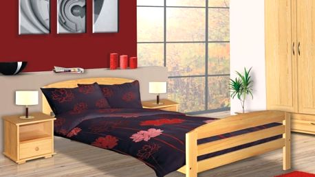 Jednolůžková postel AMÉLIE LUX 90x200cm s roštem
