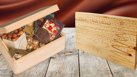 Krabička plná čokolády s osobním věnováním