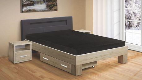 Manželská postel MEADOW 200x180 vč. roštu a matrace