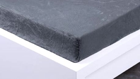 XPOSE ® Prostěradlo mikroflanel Exclusive dvoulůžko - tmavě šedá 180x200 cm