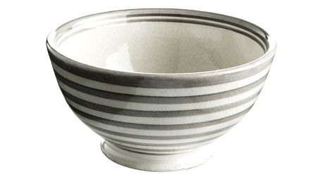 Tine K Home Keramická miska Stripe grey, šedá barva, keramika