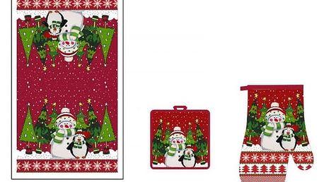 Vánoční set utěrky, podložky a chňapky