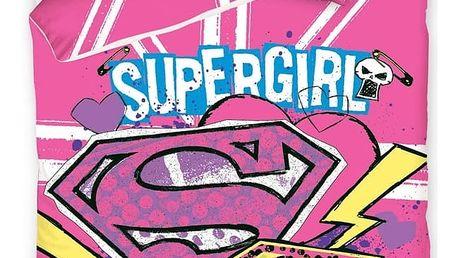Carbotex povlečení Supergirl 140x200 70x80