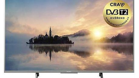 Televize Sony KD-55XE7077S stříbrná + Doprava zdarma