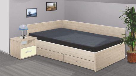 Manželská postel RENÁTA 200x160 vč. roštu, matrace a ÚP
