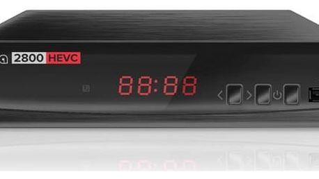 DVB-T přijímač ALMA 2800 s DVB-T2 s HEVC (H.265) černý