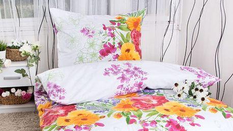 Hermann cotton Bavlněné povlečení ALEXANDRA - lila 140x200, 70x90