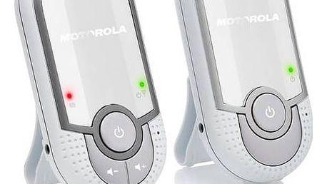 Dětská elektronická chůva Motorola MBP11 stříbrná/bílá + Doprava zdarma
