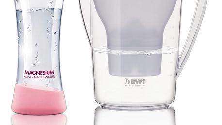 BWT Filtrační konvice Penguin 2,7 l, bílá + designová láhev MyEqua 550 ml zdarma