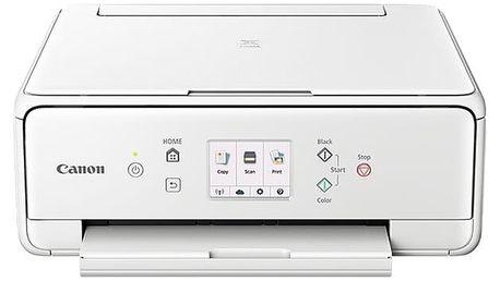 Tiskárna multifunkční Canon TS6051 (1368C026AA) bílá A4, 15str./min, 10str./min, 4800 x 1200, duplex, WF, USB
