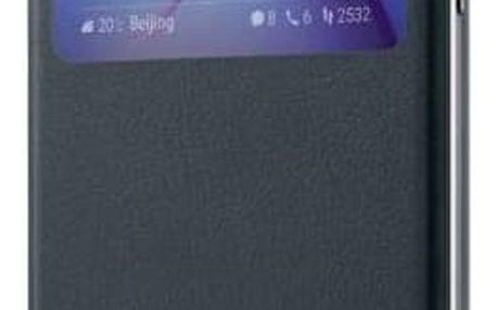 Pouzdro na mobil flipové Honor 6X View Flip Cover (51991742) šedé
