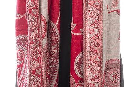 Dámská šála Pašmína indické vzory oboustranná