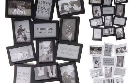 Fotorámeček Marion 12 fotografií 10 x 15 cm, černá, 48 x 63 cm