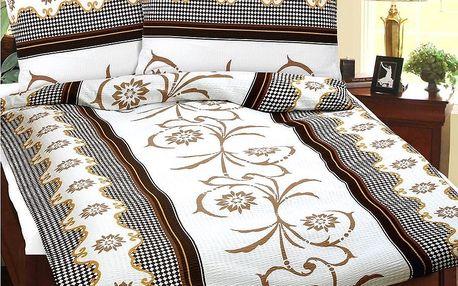 BELLATEX Krepové povlečení Béžový sen, 240 x 220 cm, 2 ks 70 x 90 cm