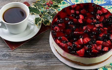 Ovocný nepečený cheesecake s pravým mascarpone
