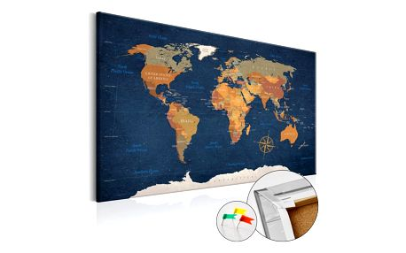 Bimago Obraz na korku - Ink Oceans 90x60 cm