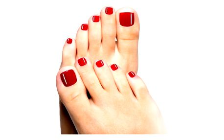 SPA pedikúra s detoxikační solnou lázní, cukrový peeling a jako dárek lehká masáž nohou olejem.