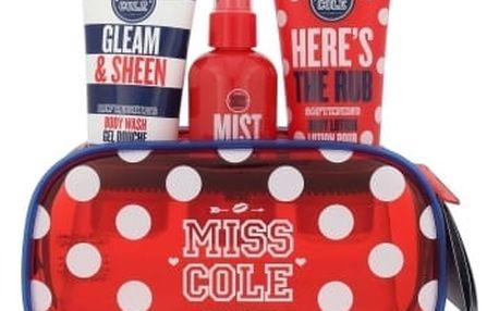 Grace Cole Miss Cole Gleam & Sheen dárková kazeta pro ženy sprchový gel Gleam & Sheen 100 ml + tělová mlha Mist Me? 100 ml + tělové mléko Here´s The Rub 100 ml + kosmetická taška