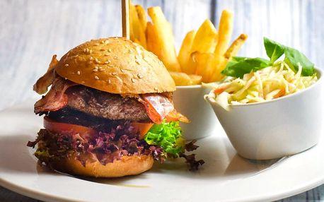 Burgery jak z ráje: 2× 200 g masa v domácí žemli