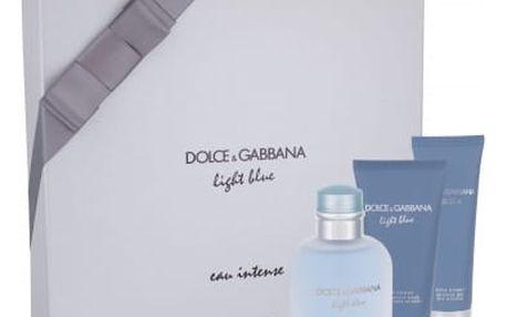 Dolce&Gabbana Light Blue Eau Intense Pour Homme dárková kazeta pro muže parfémovaná voda 100 ml + sprchový gel 50 ml + balzám po holení 75 ml