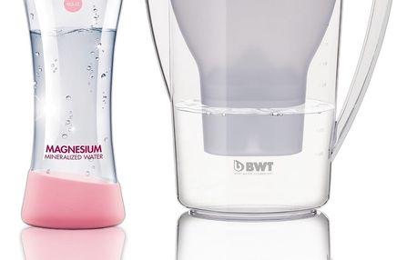 BWT Filtrační konvice Penguin 2,7 l, bílá, designová láhev MyEqua 550 ml