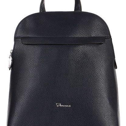 Větší koženkový batoh modrá