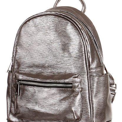 Metalický batoh šedá