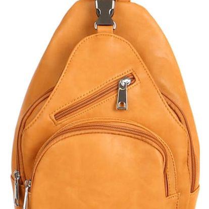 Malý koženkový batůžek žlutá