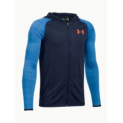 Mikina Under Armour Threadborne FZ Hood Modrá