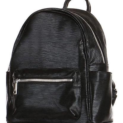 Metalický batoh černá