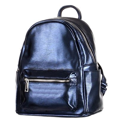 Metalický batoh modrá