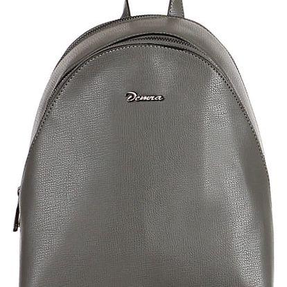 Malý koženkový batoh šedá