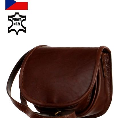 Malá lovecká kabelka z pravé kůže - Český výrobek tmavě hnědá