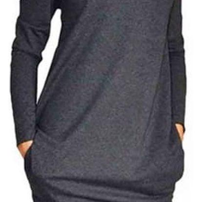 Jednoduché dámské šaty s dlouhým rukávem - 3 barvy