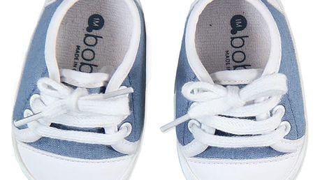 BOBOLI Capáčky - džínové tenisky, vel. 12M/21 - modrá, kluk