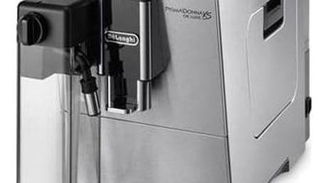 Espresso DeLonghi PrimaDonna ETAM36.365M nerez Káva DeLonghi Kimbo 100% Arabica 250g zrnková (zdarma) + Doprava zdarma